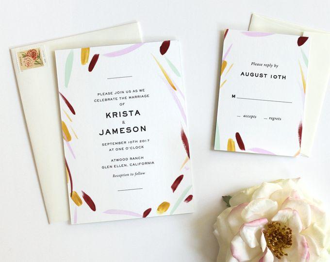 modern wedding invitation watercolor wedding inspi