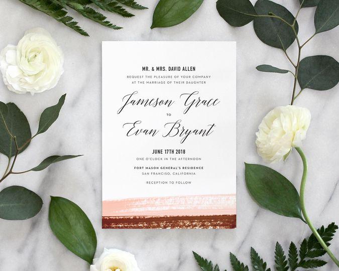 wedding invitation ideas modern calligraphy waterc