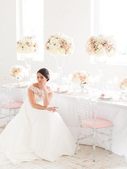 Tall Centerpieces, bridal bouquets, short centerpieces