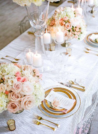 Low wedding centerpieces
