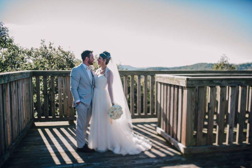 Wedding Shot Carilion Tower