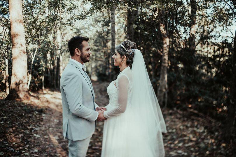 Wedding Shot on Trail