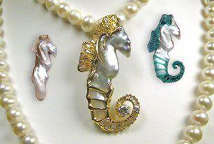 Tmx 1362164537245 Seahorsependantwithwaxandpearl Olympia wedding jewelry