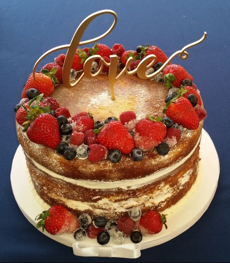 Small Naked Cake With Berries
