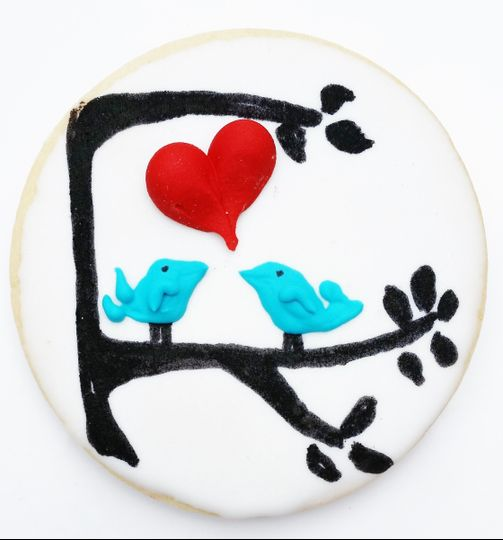 Love Birds Cookie Favor