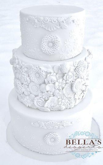 389d957486d24a43 Bas relief wedding cake