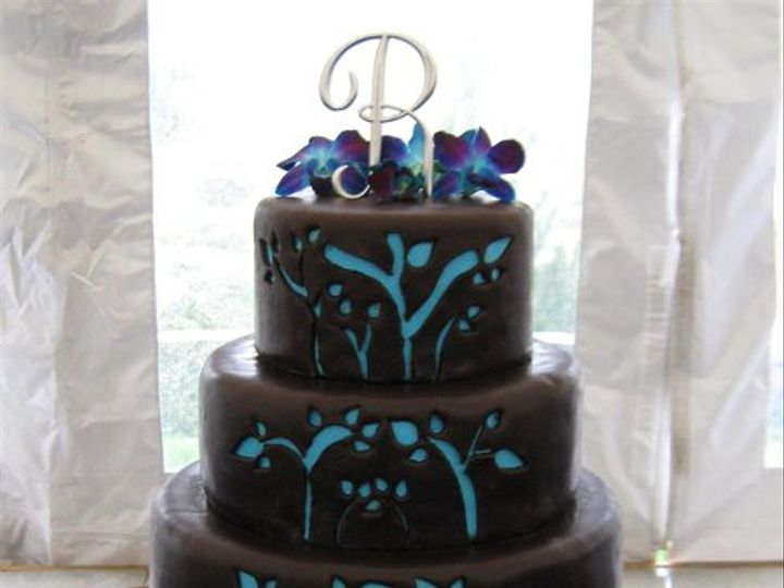 Tmx 1242157587015 Bluecutout Glenmoore wedding cake