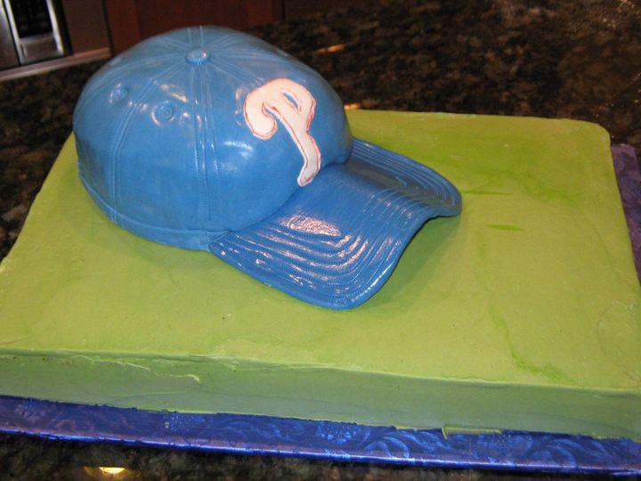 Tmx 1352127610438 Baseballhat001 Glenmoore wedding cake