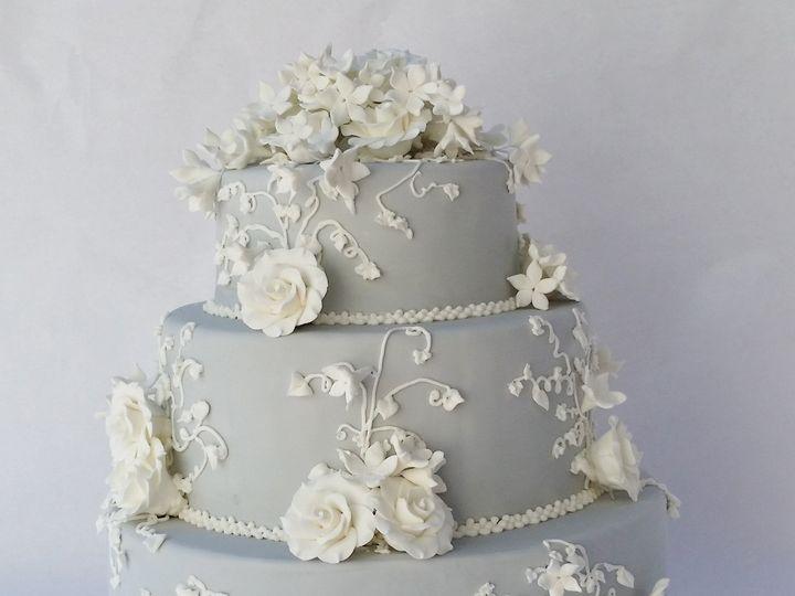 Tmx 1454673587026 Jasper Wedgwood Wedding Cake Glenmoore wedding cake