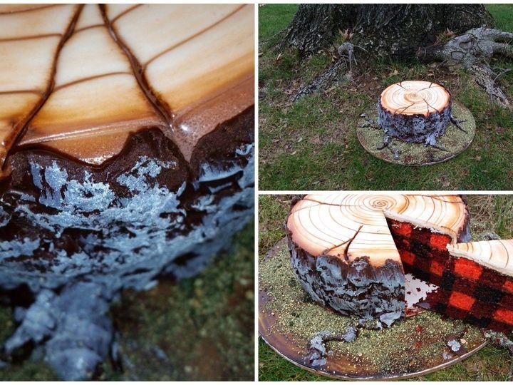 Tmx 1454674308822 Tree Stump Cake Glenmoore wedding cake