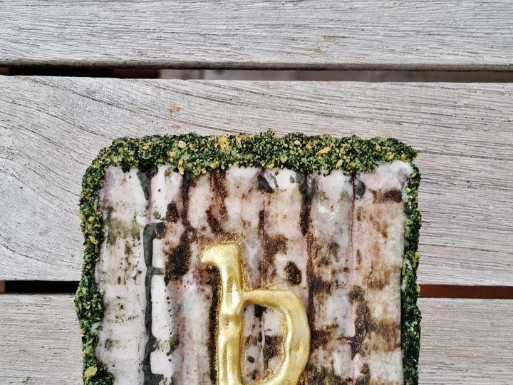 Tmx 1454674824944 Birch And Moss Mongram Cookie Glenmoore wedding cake
