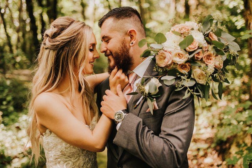 Woodsy outdoor wedding