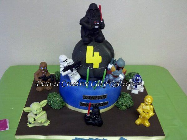 Star Wars Cake created for a kids fourth birthday held in Thornton Colorado