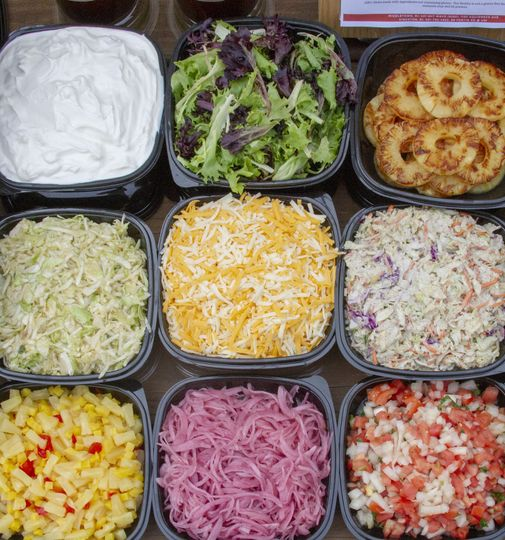 Taco bar toppings