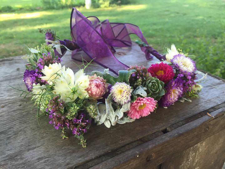 Floral crown for flower girl