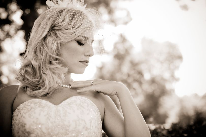 Bride in sepia
