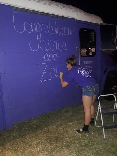 Writing on the truck