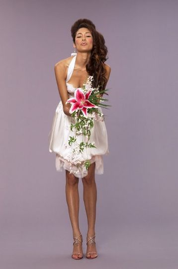 Deborah Lindquist's Green Wedding dresses are created with eco friendly fabrics. 808 573 8196