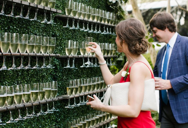 Champagne wall