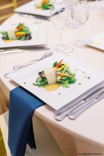 Elegant menu and details
