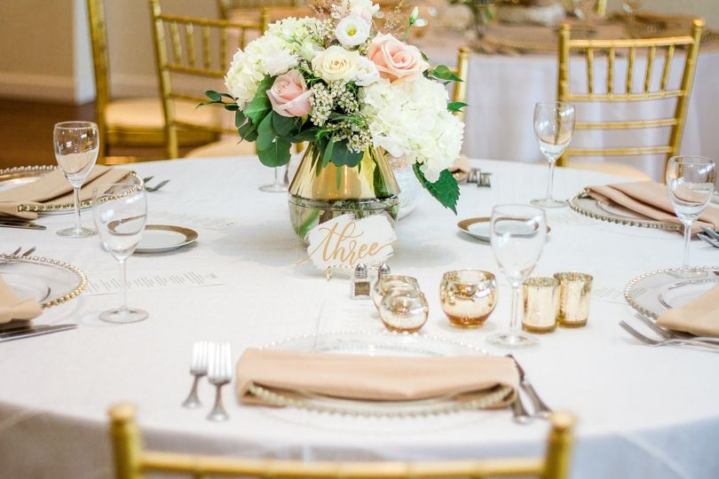 A round table setting