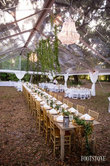 Chiavari chairs and clear tent