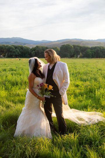 Utah field wedding