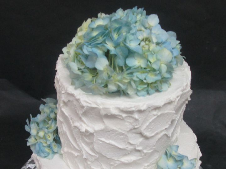 Tmx 1534524936 B5479b0fe1bf7f11 1534524934 4bae69190ba235d1 1534524922619 2 Blue Hydrangea Cak Glastonbury, CT wedding cake