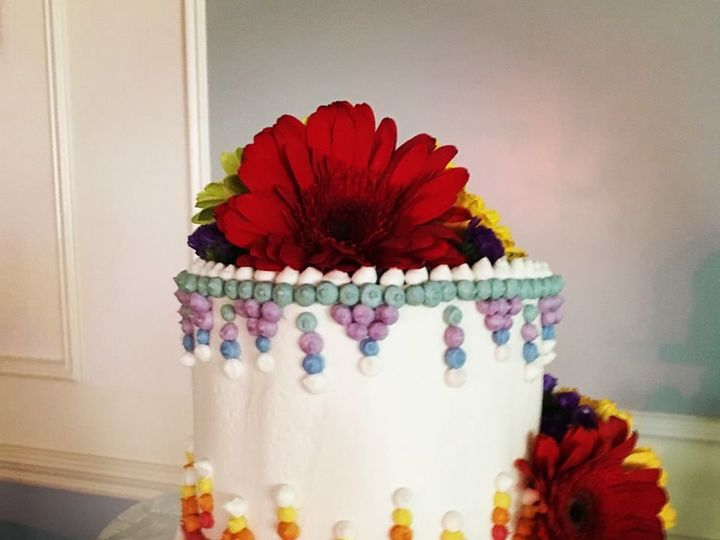 Tmx 1534525261 4516028fb59d8d8d 1534525260 Ca2cbc07eb8b8874 1534525261289 3 Aztec Cake Glastonbury, CT wedding cake