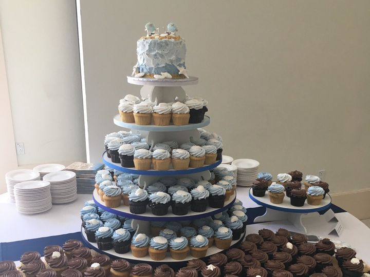 Tmx 1535135038 Bc54f2466aa3117a 1535135035 Cd3e7e1d77e74651 1535135020437 8 Beach Themed Cupca Glastonbury, CT wedding cake