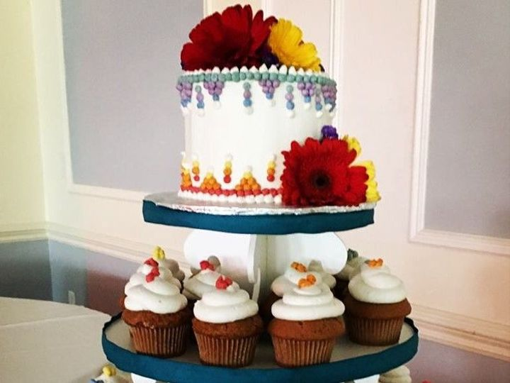 Tmx 1535141349 40f04e8fc90328ef 1535141348 A15de49233cb4088 1535141348854 13 Cupcake Tower Wit Glastonbury, CT wedding cake