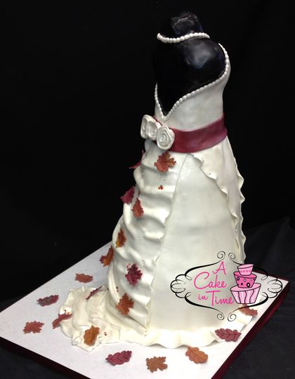wedding dress cake aci