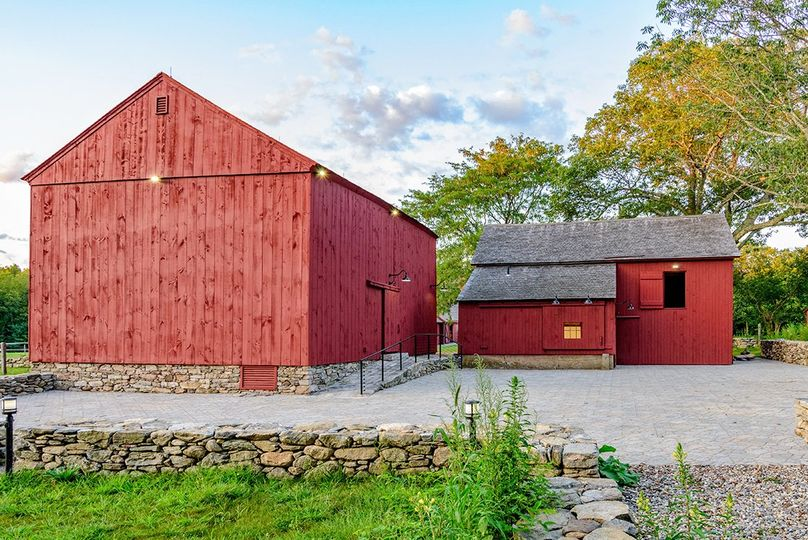 Restored Barns and Paved Patio