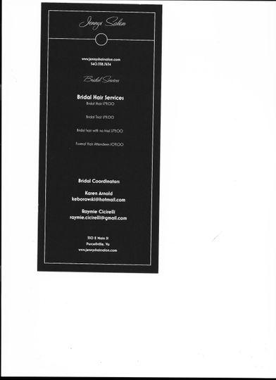 Bridal pricing brochure