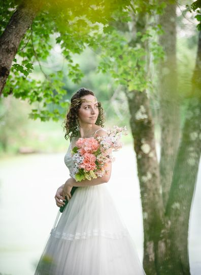 Beautiful bride with elf vibes