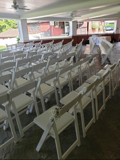 Outdoor Patio Ceremony Seating