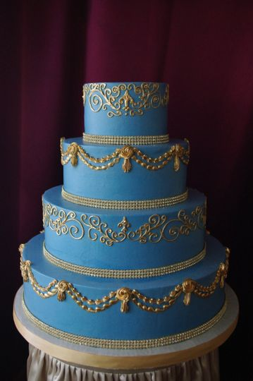 French Blue and Gold Wedding