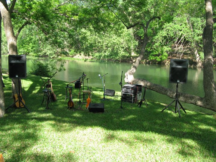 Exit 505 is set up and wedding ceremony by the beautiful Guadalupe River in the beautiful Texas Hill...