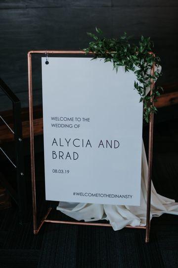ALYCIA + BRAD | Welcome Sign