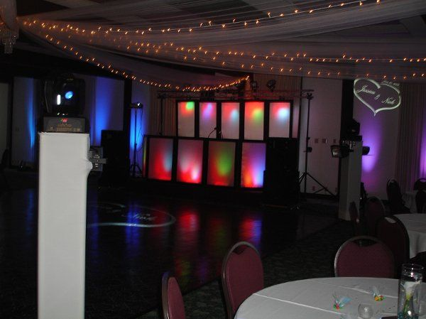 "As seen, we can add custom monograms projected anywhere you like, and the ""uplighting"" fixtures can..."