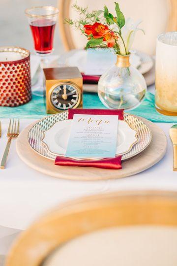 Colorful settings and menus