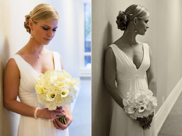 portraits of bride before ceremony
