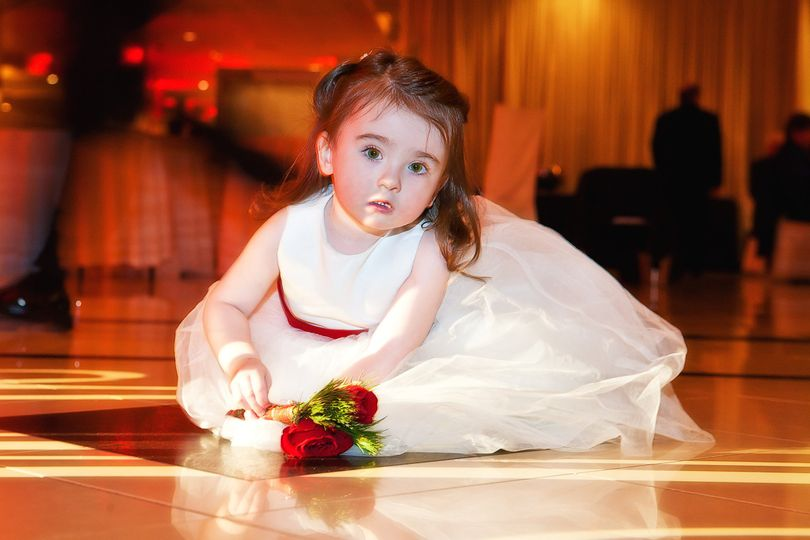 flower girl on dance floor