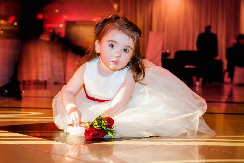 pensive flower girl on dance floor 51 174105 159034526318638