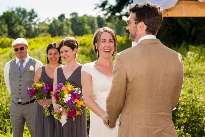 Laughing during the vows