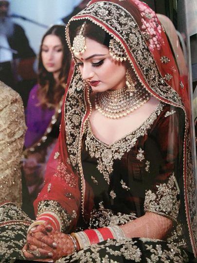 Indian wedding, chunni setting