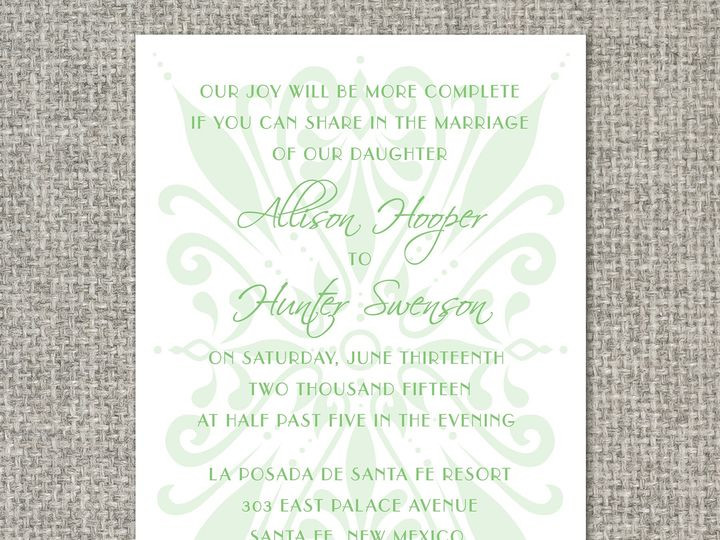 Tmx 1460156246363 Allisoninvitation Middleburg, PA wedding invitation