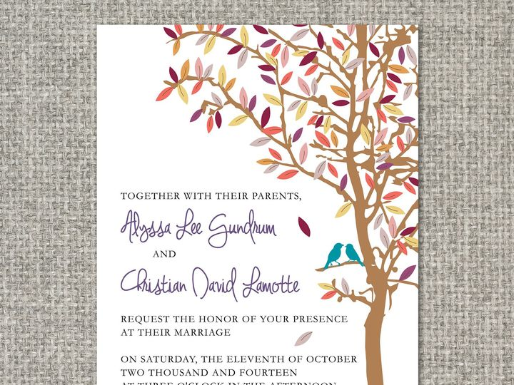 Tmx 1460156255612 Alyssainvitation Middleburg, PA wedding invitation