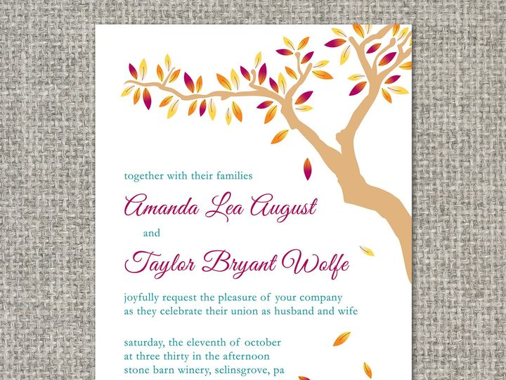 Tmx 1460156273585 Amandainvitation Middleburg, PA wedding invitation