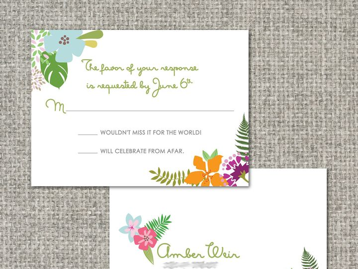 Tmx 1460156304853 Amberrsvppostcard Middleburg, PA wedding invitation